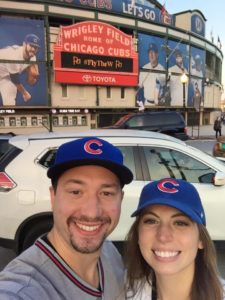 My nephew Carson and his girlfriend Mara at Wrigley the night of game 2.