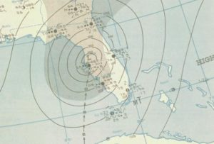 1946 Florida Hurricane Map, NOAA Central Library